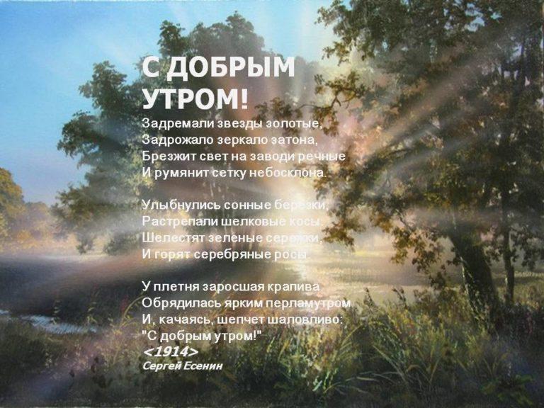 пожелание утра доброго в стихах советских поэтов ориентироваться непросто, так